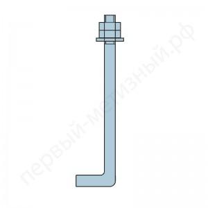 Фундаментный болт 1.1 М12х400 ГОСТ 24379.1-2012
